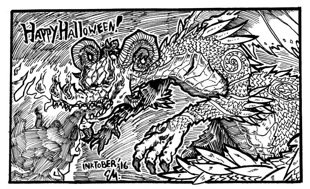 Jack-o-lantern Dragon by TheInsaneDingo