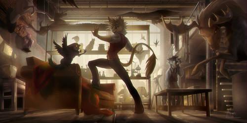 [EF] Strange Creature in the Workshop by Jetera