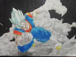 Blue Vegetto -Fighter Z Inspired-  -updated- by Midieka
