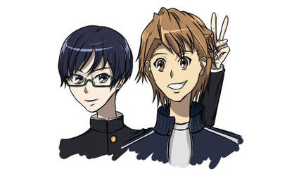 Naoya Teshigawara and Tomohiko Kazami by Helloeen