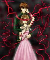 Sakura and Syaoran - Blindfold by wishluv