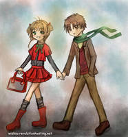 Young Sakura and Syaoran Date by wishluv
