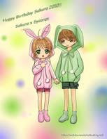 Chibi Sakura x Syaoran Bunnies by wishluv