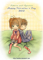 Sakura and Syaoran Valentine's Day by wishluv