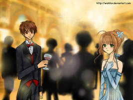 Sakura + Syaoran in New York - Happy New Year 2013 by wishluv