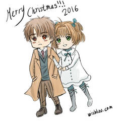 Merry Christmas 2016 Sakura and Syaoran by wishluv