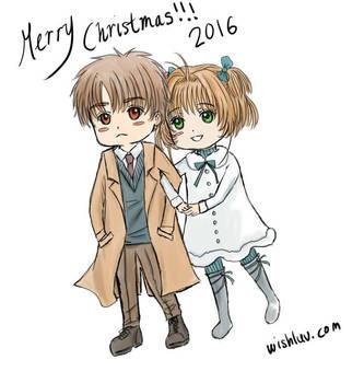 Merry Christmas 2016 Sakura and Syaoran by wishluv