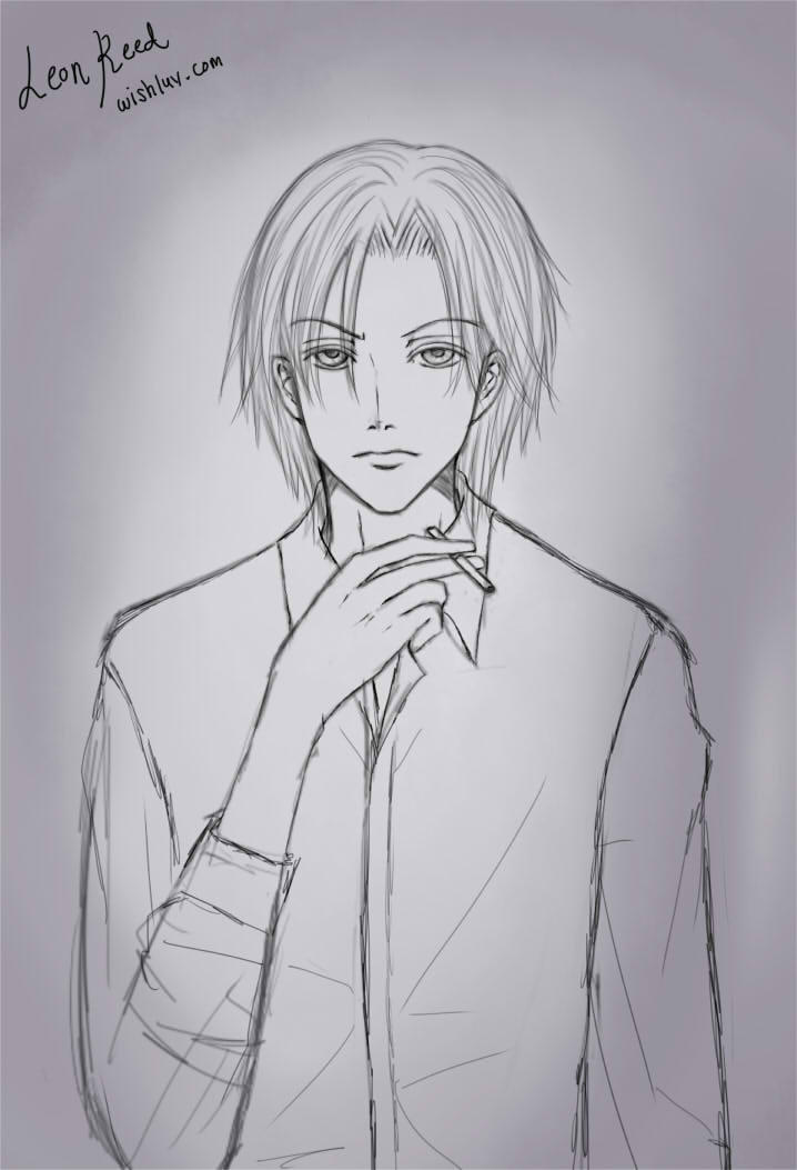 Kaitou Magician Origins Leon Reed Character Sketch by wishluv