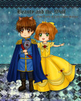 Beauty and the Wolf: Sakura cheers up Syaoran by wishluv