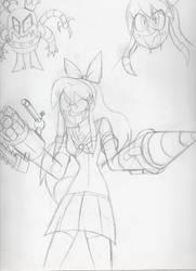 Yandere Cyborg sketche by Yojama