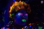 Blacklight Lauren by moonglowdude