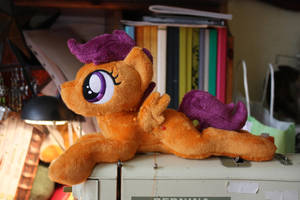 Filly Scootaloo shoulderpony WIP by Siora86