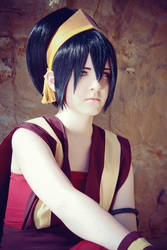 Toph Bei Fong - The Firenation disguise by Saerithi