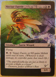 Nectar Faerie-Altered MTG Card by Hissarlid