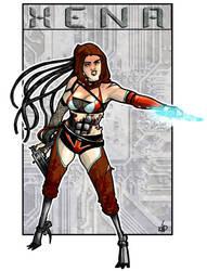 Cyberpunk Xena by aubergineverde
