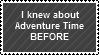 ADVENTURE TIME stampu by StarOblivion