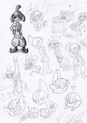 Genie and Other TMSN Sketches by Lexiathecat
