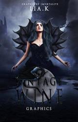 Vintage Wine - Wattpad Cover by Auberginenqueen
