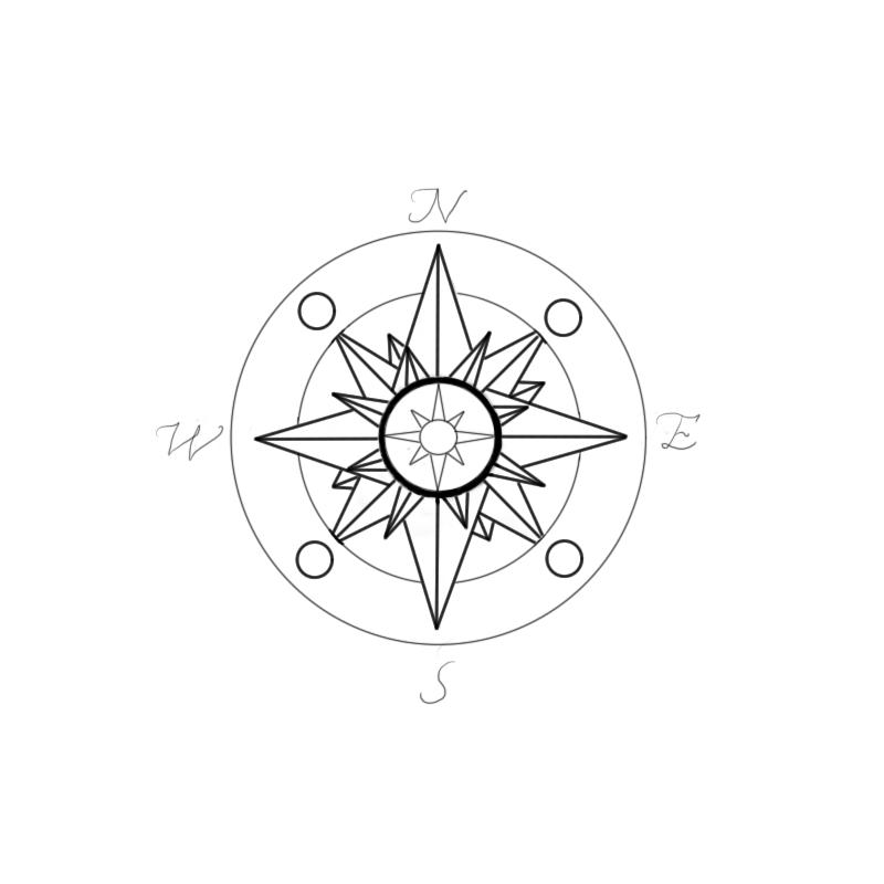 New Compass Rose Tattoo Design By Madamz On Deviantart