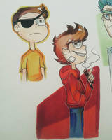 Tord and Evil Morty by G-0-l-d-e-n