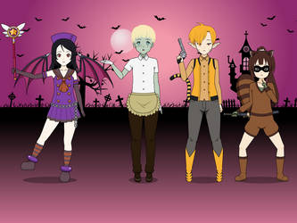 Spooky Month Final: The Spooky Gang's Here! by adimetro00