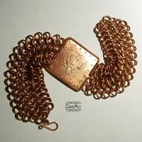 Bear Chainmaille Bracelet 1 by Zsamo