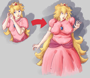 Queen Peach Age Progression by undeadpenguin37