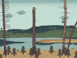 Stake Lake Landscape by AprilSundae