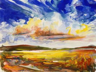 Warm breath of summer wind by Mishelangello