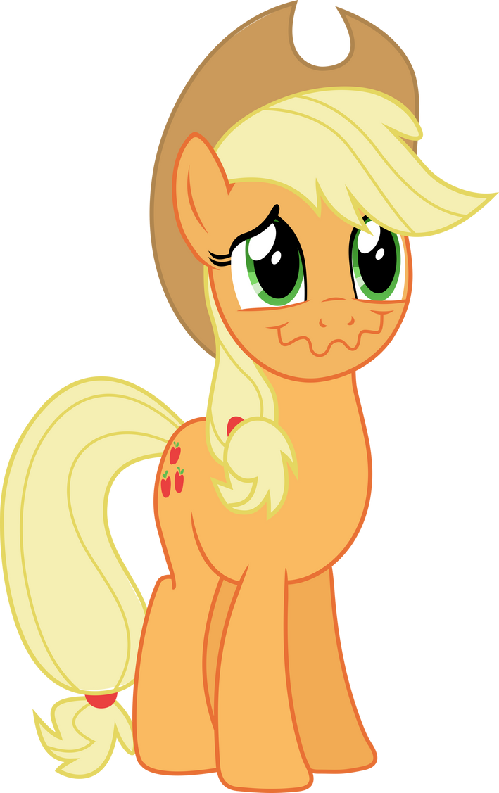 applejack_hides_laughter_by_notlikelyana