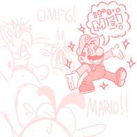 COME AT ME BRO - A Mario Sketch by JamesmanTheRegenold