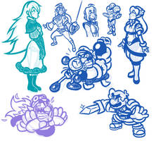 SAI Sketches - Of Babes and Brutes by JamesmanTheRegenold