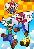 Mario and Luigi's Paper Jam by JamesmanTheRegenold
