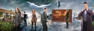 DOCTOR WHO 10TH ANNIVERSARY BANNER - 11th Doctor by Umbridge1986