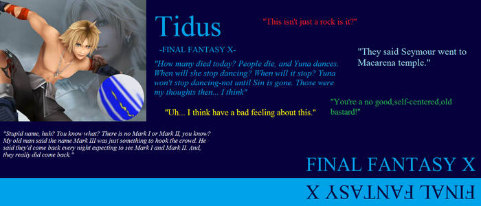Tidus Quotes Wallpaper By Wolfraver13 On Deviantart