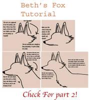 Fox Drawing Tutorial Part 1 by MariahThefox