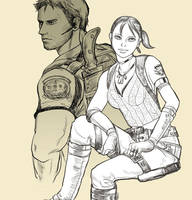 Chris and Sheva by nekospa