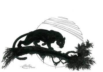 Panther moon by VARAKIENEN