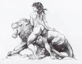Leon Frazetta by Cruuzetta