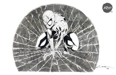 Inktober 015 Spiderman by Cruuzetta
