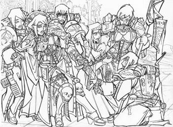 Battlefield Ceremony remade lineart by LupiNocte
