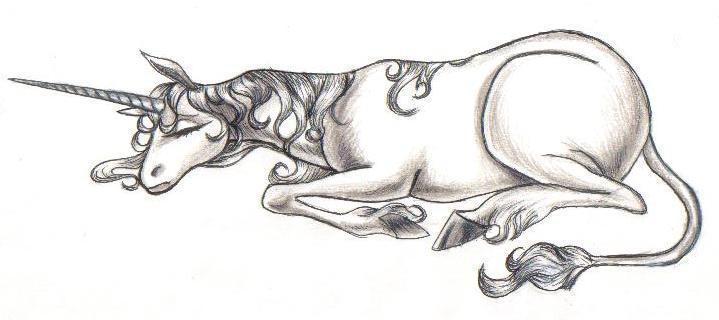 The Unicorn Sleeping by thelastunicorn