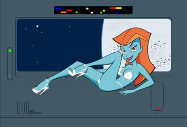 Space Babe Mira Nova by SFToon