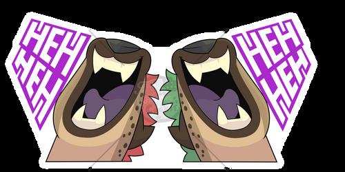 Sticker batch #2 -Hyena Sticker by Tomthebaker