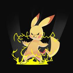 Evil Pikachu by Tomthebaker