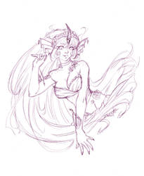 Patreon Sketch Reward - August - Cosette by Tsuzukikun