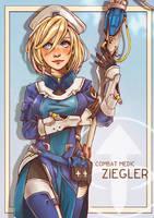 Combat Medic Ziegler(Mercy) by west-24