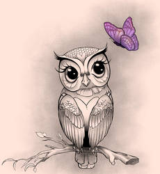 Owl Tattoo Design by Tarragon-8