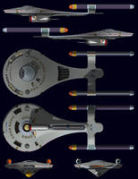 USS Gamgee Orthographics by WideFoot