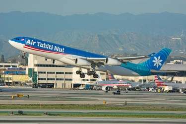 Air Tahiti Nui Airbus A340-313 F-OJGF by concaholic